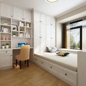 全屋榻榻米定制整体卧室儿童房塔塔米踏踏米床衣柜一体组合小柜子