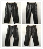 皮裤 潮男皮裤 古着vintage冬季真皮男装 大码 休闲直筒牛羊皮长裤 AAA
