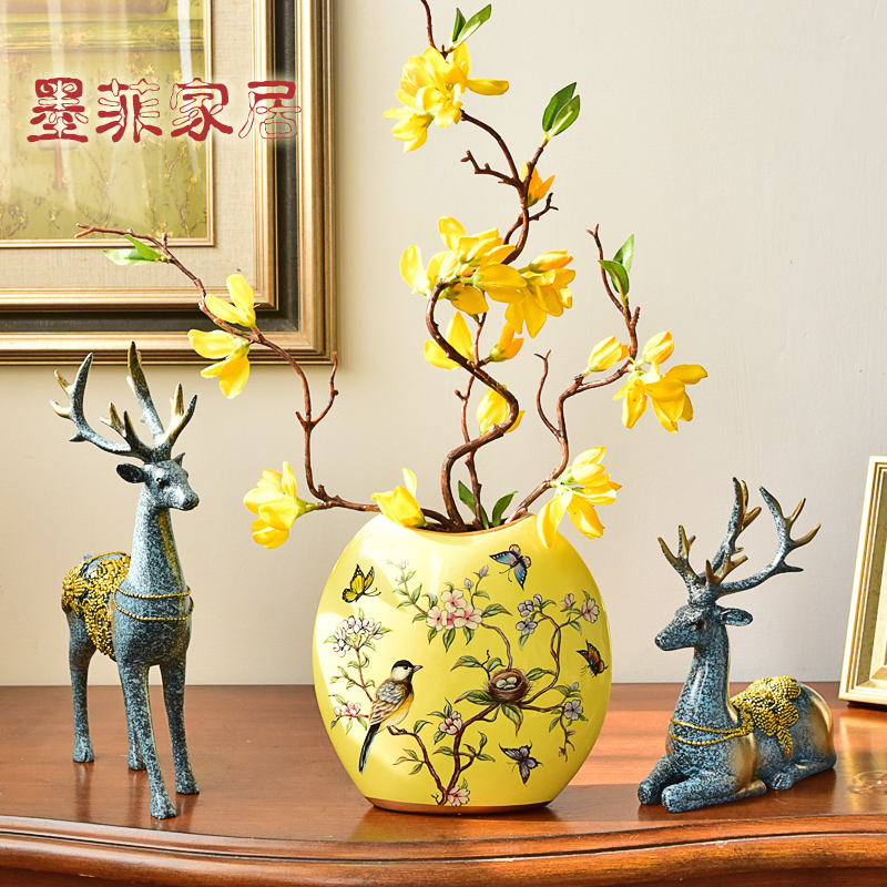 花瓶陶瓷欧式乡村