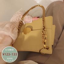 【南风】锁扣链条包2019新款夏季时尚休闲菱格单肩斜挎小包包女包