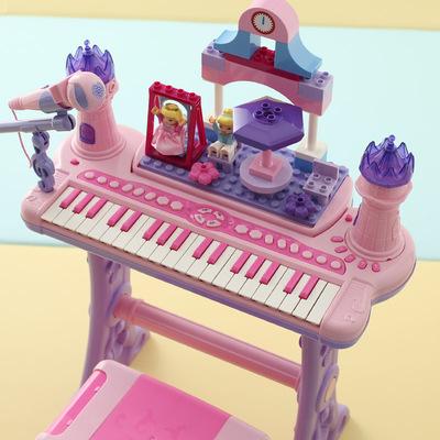 儿童电子琴 女童孩宝宝钢琴玩具琴带麦克风1-3-6岁生日礼物初学品牌子口碑评测