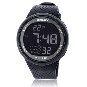 XONIX游泳跑步计时男士2018新款运动防水简约学生数字电子手表男