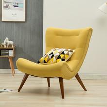 老虎椅北欧小户型布艺客厅阳台卧室休闲现代简约创意懒人单人沙发
