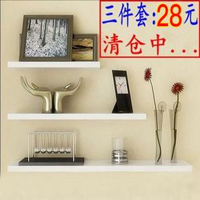 客厅墙上置物架 墙面装饰架一字隔板木板置物架搁板壁挂创意书架