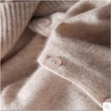 Autumn and winter anti-season cashmere sweater cardigan female V-neck short small fragrance wind jacket round neck thin section outside knitted sweater