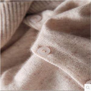 秋冬反季羊绒衫开衫女V领短款小香风外套圆领薄款外搭针织羊毛衫