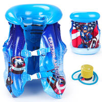 Disney Captain America Child Life Jacket Baby Swimming Buoyancy Vest Child 3 Years 6 Boys Inflatable Swimsuit