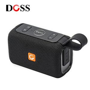 DOSS/德士DS-2099 智能蓝牙音箱AI语音助手声控制无线智能防水户外迷你便携插卡小音响车载超重低音炮