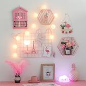 饰品墙上小创意 墙壁装 饰挂件ins少女网红房间布置卧室寝室墙面装图片