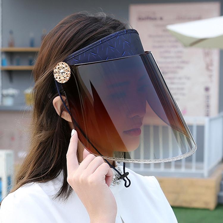 女士夏季骑电动车防晒帽