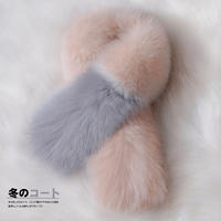 Big hi homemade autumn and winter new fur fox fur collar real fur collar scarf long plush velvet collar