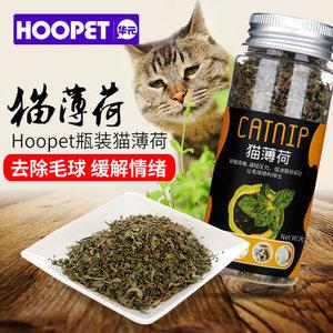 HOOPET瓶装猫薄荷粉猫草猫咪零食天然去毛球助消化清洁牙齿猫零食