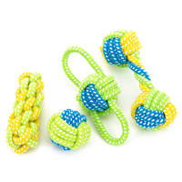 Dog toy dog ​​bite rope cotton rope molar knot toy ball Golden Retriever Bomei puppy small dog toy