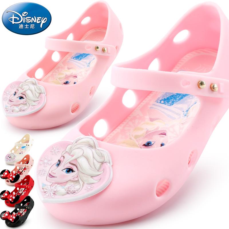 宝宝鞋软底1-3岁迪士尼童鞋夏季新女童沙滩鞋儿童公主鞋防滑凉鞋