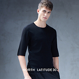 北纬30度原创设计2018夏季新款时尚圆领针织衫简约半袖毛衫4700