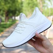 薄款 男学生运动鞋 网布潮鞋 夏季透气休闲鞋 男鞋 网面防臭白色网鞋图片