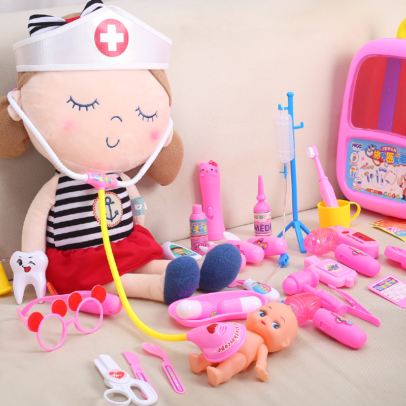 小医生玩具套装工具箱打针护士男孩北美儿童医院过家家女孩听诊器