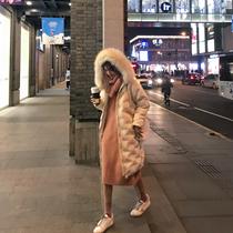 东大门羽绒棉服女冬季2018新款韩版中长款过膝宽松大毛领棉衣外套