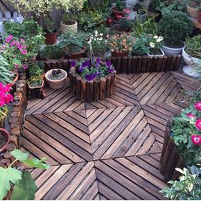 特价碳化防腐木/户外实木地板/阳台地板/庭院室外木地板/浴室走廊