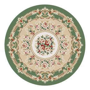 现货锦川 美式欧式中式 客厅茶几卧室书房餐桌圆桌 圆形剪花地毯