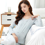 Pregnant women autumn clothes autumn pants set cotton pregnant post-natal breastfeeding autumn and winter cotton sweater pregnant women warm underwear pajamas