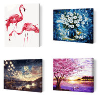 Non-word diy digital painting living room landscape flower anime character coloring hand-painted fill oil decorative painting