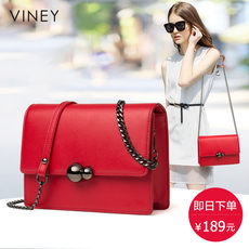 Viney small bag female 2019 new tide leather handbags shoulder Messenger bag casual wild chain small square bag