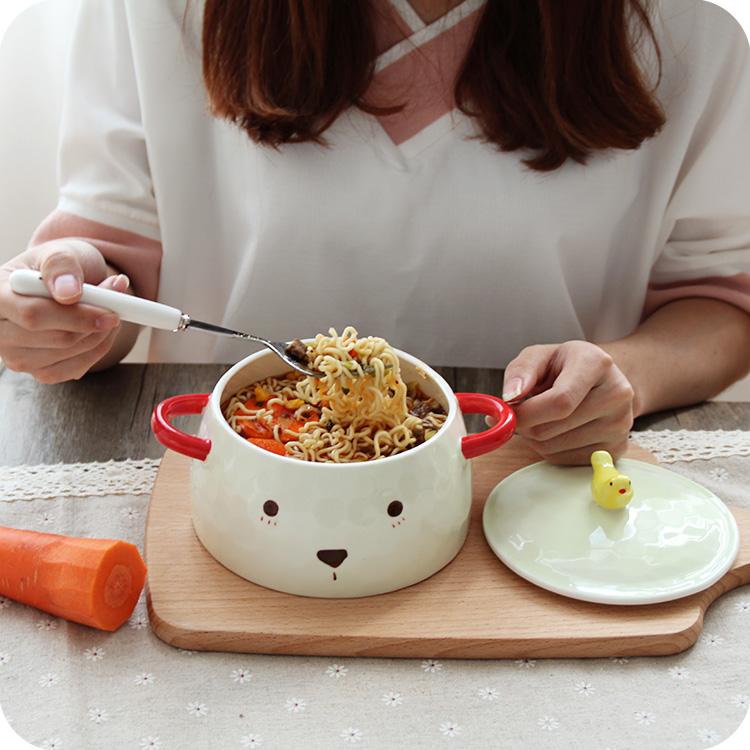 小熊陶瓷碗
