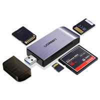 Green card reader multi-in-one usb3.0 high speed sd card converter small mini tf big card SLR universal Canon camera memory card cf card u disk multi-function card reader two in one