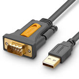 Green connected usb to rs232 com nine pin 9 pin to usb computer ft232 serial data cable male to male male to female rs232 connection db9 serial cable female industrial grade connector