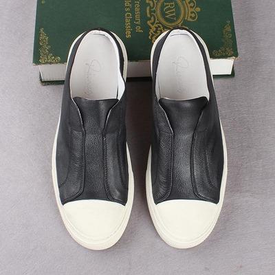 头层牛皮包头半拖鞋男韩版潮流夏季透气休闲鞋男无后跟英伦软面鞋