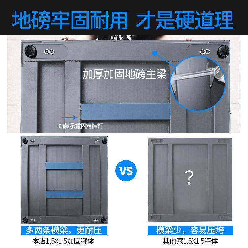 上海耀华高精度电子地磅秤1-3吨5T小型地磅正品平台称猪牛的磅秤