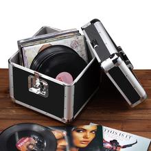 影碟胶片箱大盒子手提式储物整理金属箱 黑胶唱片收纳箱LP收藏箱