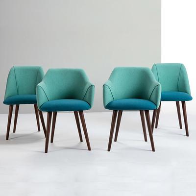 亚丁椅北欧餐椅设计洽谈电脑布艺餐厅实木休闲简约扶手咖啡书桌椅哪个好