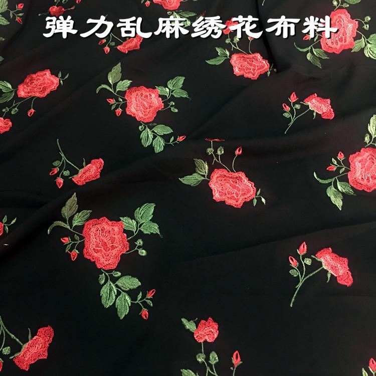 长袖面料绣花
