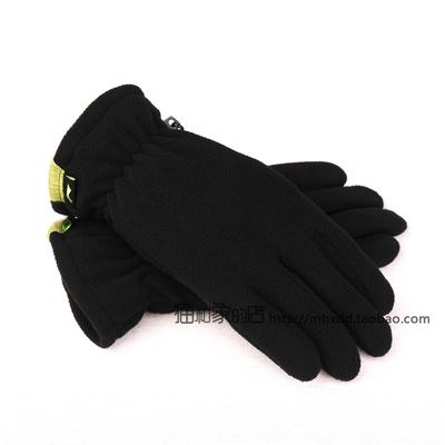 15年 李宁冬季男款户外 双层保暖摇粒绒手套 ASGK007-1黑-2灰-3绿