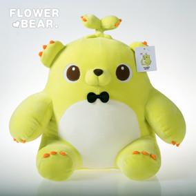 正版萌芽熊毛绒玩具公仔玩偶熊童子抱枕软体羽绒棉娃娃情人节礼物