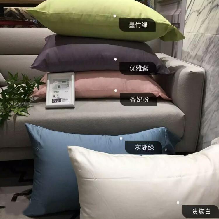 上新纯色 全棉贡缎床单床笠枕套被套单件 素色纯棉长绒棉床上用品