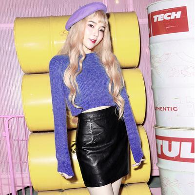 八零格格2018秋冬韩国韩版包臀裙高腰PU皮裙半身裙安全裤内衬短裙