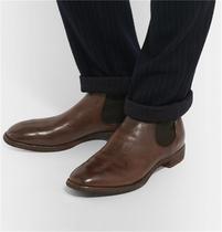 天木定制(天十八)精心创意手工艺品鞋类柔软植鞣牛皮切尔西男靴