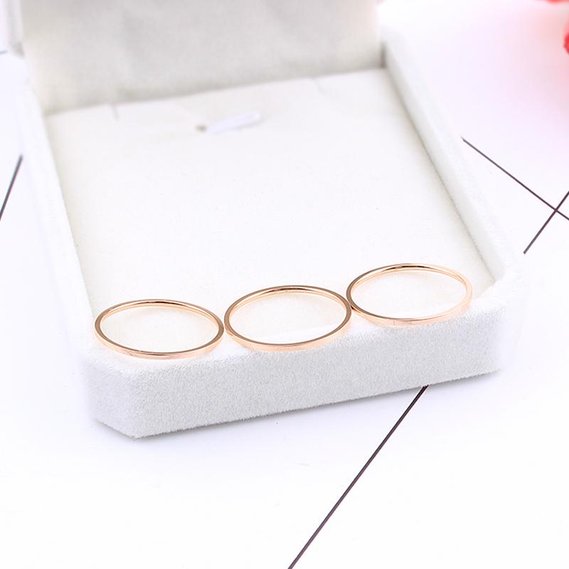 尾戒指女18k玫瑰金关节戒指 日韩国学生简约个性细小指食指戒指环