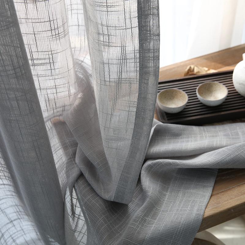 纯白客厅窗帘