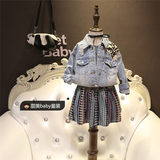 Brand children's clothing heavy craft girls baby washed denim jacket coat children's clothing new children 2019 autumn