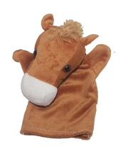 Hand-Plush 0 years old and above baby parent-child doll early teaching prop Pony hand puppet glove puppet