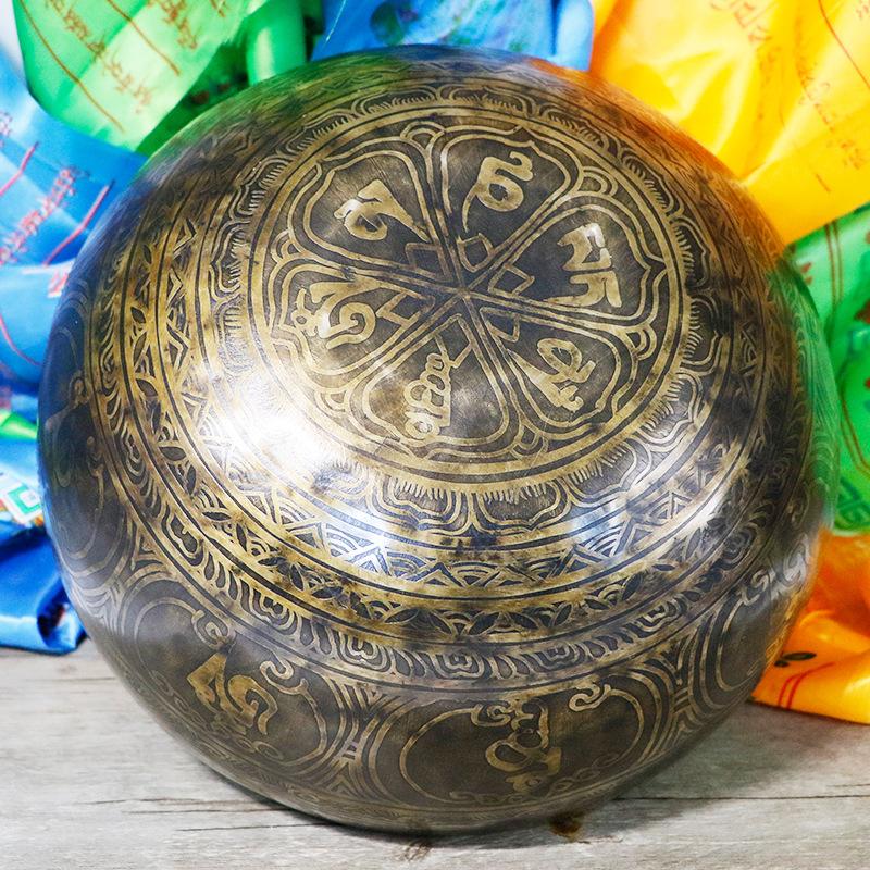 WIZARD盂音疗行星能量颂磬大号30厘米佛音碗西藏老颂铜尼泊尔纯手