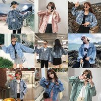 Denim short jacket spring women's new retro harbor wind loose bat sleeve coat student fashion handsome shirt tide
