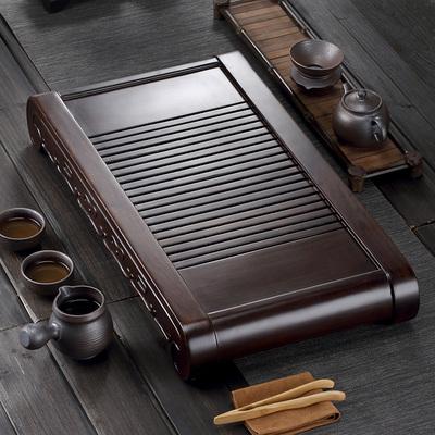 黑檀木茶盘鸡翅木茶海实木抽屉式茶托盘木制功夫茶具花梨排水茶台