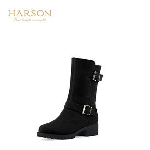 女雪地靴哈森女靴