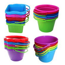 Baggage Children's Beach Toy Bucket Kindergarten Plastic Bucket Babies Catch Fish and Play Sandplay Outdoors