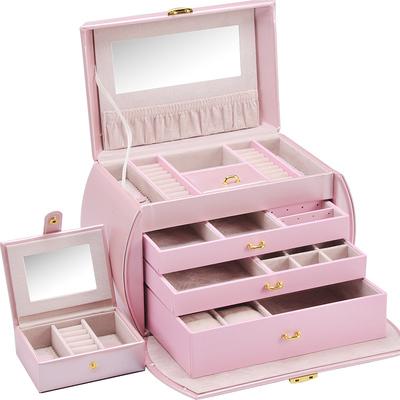 豪華首飾盒大公主歐式手飾盒手飾品首飾收納盒多層珠寶箱手表收藏66大促